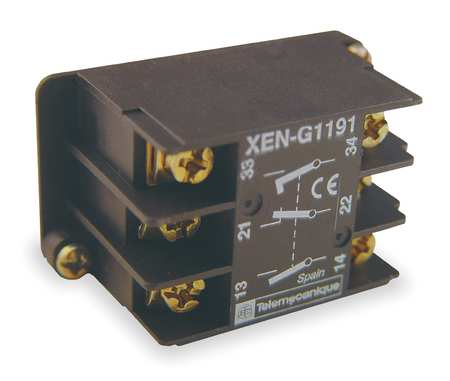 Pendent Contact Block, 1NC+2NO EarlyClose