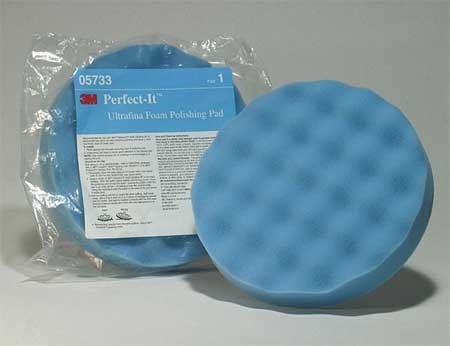 Polishing Pad With Waffle Face, 8 In, Foam