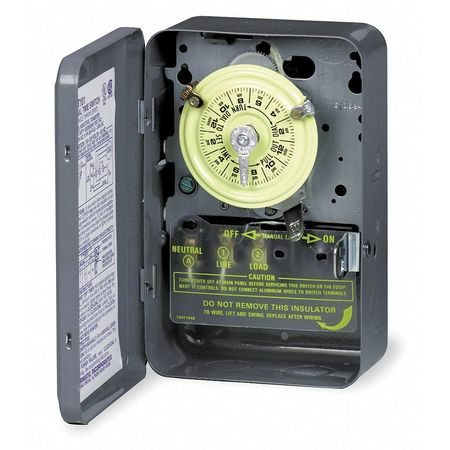 Electromechanical Timer, 24 Hour, 2 Pole