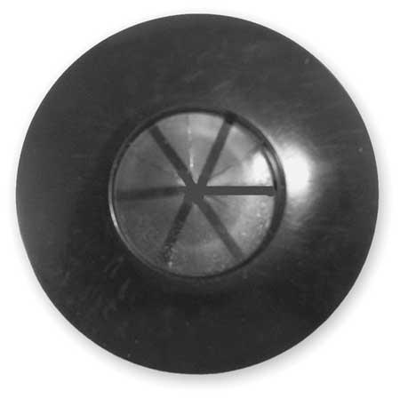 Gladhand Seal, w/Flap, Buna N, Black, PK2