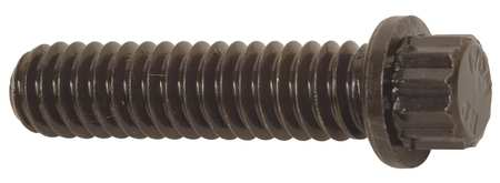 "1/2""-20 x 1-1/2"" Grade A574 Plain 12-Point Flange Head Cap Screw,  10 pk."