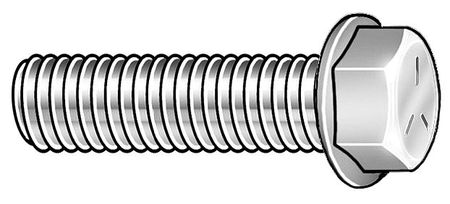 "3/8""-16 x 1"" Grade 5 Zinc Plated UNC (Coarse) Hex Head Cap Screws,  25 pk."