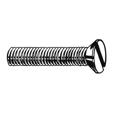 M3-0.5 x 6 mm. Flat Head Slotted Machine Screw,  100 pk.
