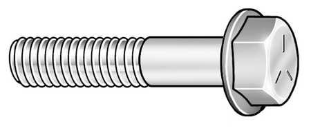 """1/2""""-13 x 2"""" Grade 5 Zinc Plated Hex Head Cap Screw,  10 pk."""
