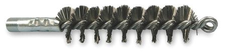 Flue Brush, Wire, OAL7 1/4 In, Dia 1 1/4 In