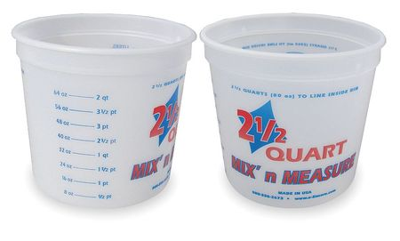Paint Mix/Measure Cont., 2-1/2 qt, PK12