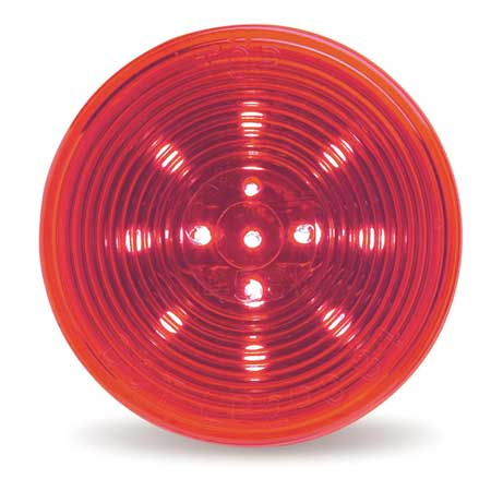 Lamp, Optic Lens, LED, 2.5 In., Red