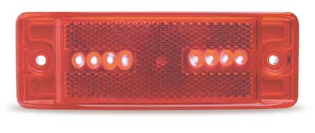 Lamp, Turtleback, LED, 8 Diode, Red