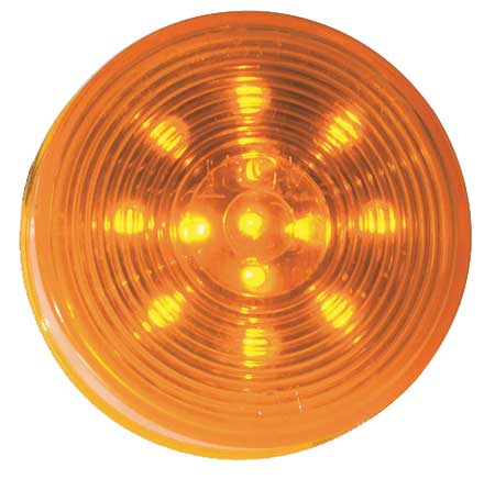 Lamp, Optic Lens, LED, 2.5 In., Yellow