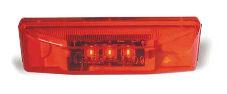 Marker Lamp, LED, 3 Diode, Red
