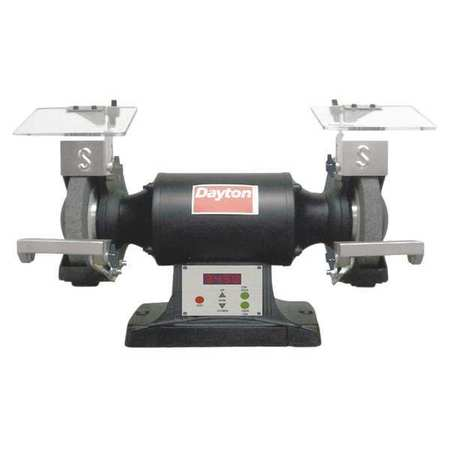 Premium Bench Grinder, 8 In, 1.5HP, Var Spd