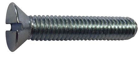 "#8-32 x 3/4"" Flat Head Slotted Machine Screw,  100 pk."