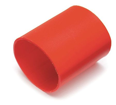 Shrink Tubing, 0.75in ID, Red, 1-1/2in, PK10