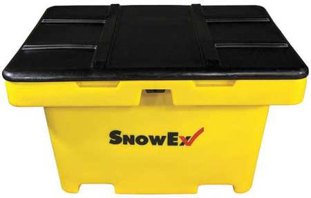 Attached Lid Container, 11 cu ft, Yellow