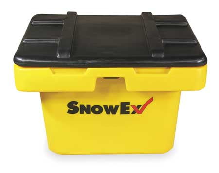 Attached Lid Container, 5.5 cu ft, Yellow