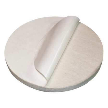 Felt Disc, F1 Grade, 1/4 In Thick, 6 In Dia