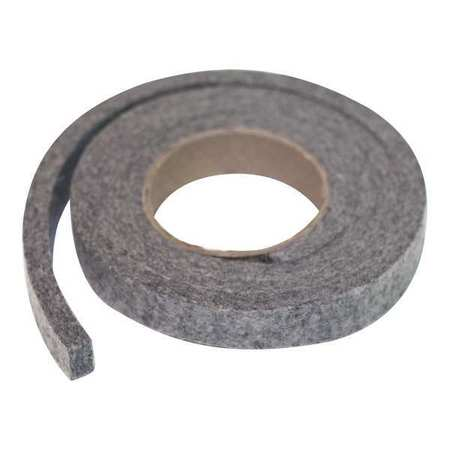 Felt Strip, F13, 1/2 In T, 2 x 120 In