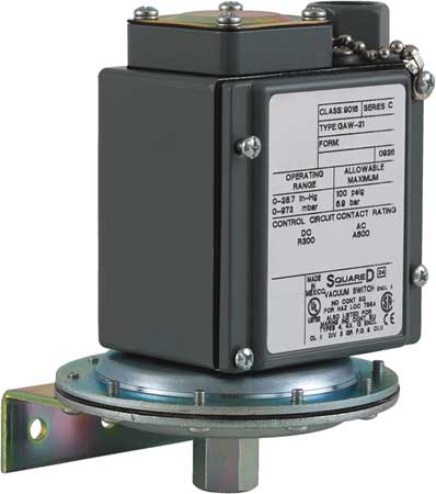 "Vacuum Switch, Stndrd/Revers, 0 to 28.3""Hg"