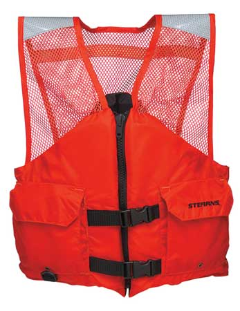 Flotation Vest, Orange, Nylon, L