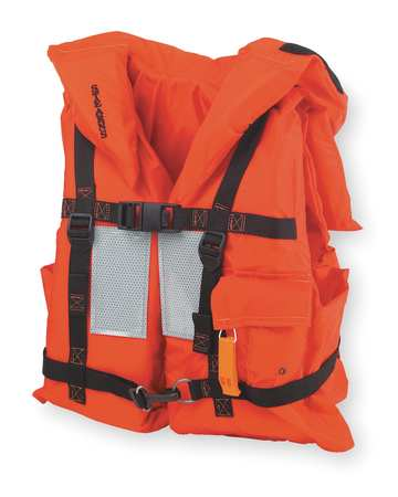 Flotation Vest, Orange, Nylon, Universal