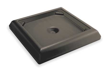 "Weighted Base, 6""H x 24-1/2""W, Blk"