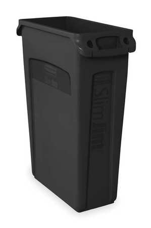 23 gal. Black Plastic Rectangular Utility Container