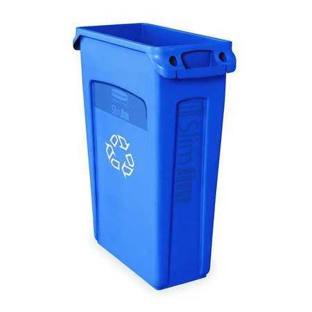 23 gal. Utility Container Rectangular,  Blue Plastic