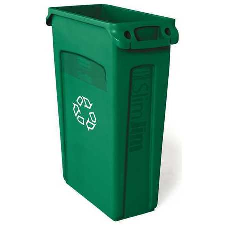 23 gal. Green Rectangular Plastic Utility Container
