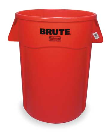 44 gal.  Round  Red  Trash Can w/ Handles