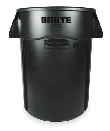 44 gal.  Round  Black  Trash Can w/ Handles