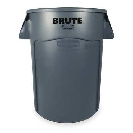 44 gal.  Round  Gray  Trash Can w/ Handles