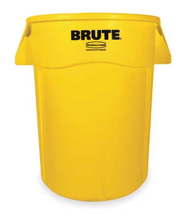 44 gal. Yellow Plastic Round Utility Container