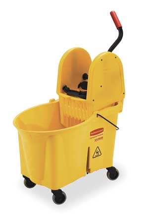 WaveBrake Mop Bucket and Wringer, 11 gal., Yellow
