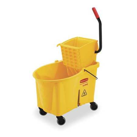 Mop Bucket and Wringer, 11 gal., Yellow