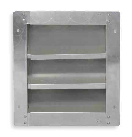 Louver, Adj w/ 28 to 46 In, Aluminum