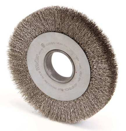 Wire Wheel Brush, Arbor, 8 In., 1 In. W