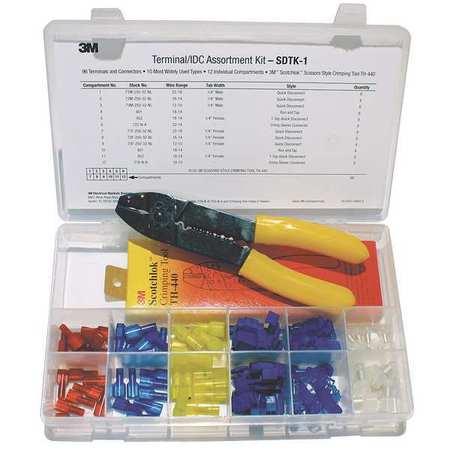 3m wire terminal kit crimp tool 96 pcs sdtk 1 zoro com rh zoro com wiring terminal types wiring terminal types