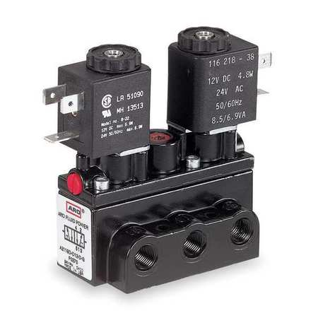 Solenoid Air Control Valve, 1/4 In, 12VDC