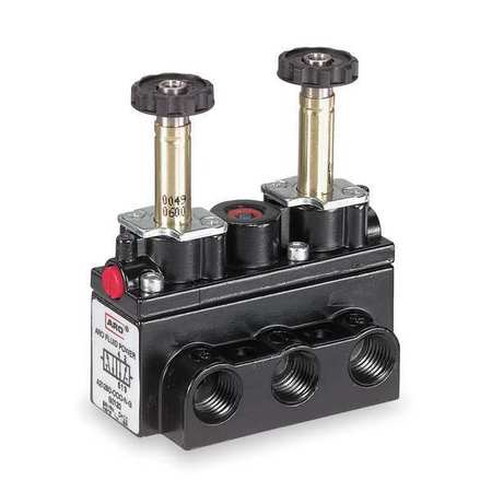 Solenoid Air Control Valve, 1/8 In, 4-Way