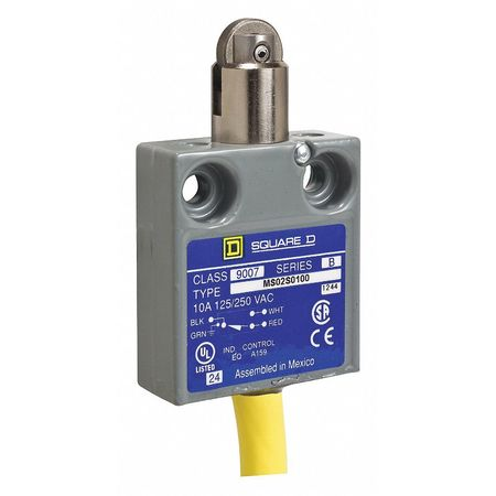 SQUARE D 9007MS02S0200 SPDT Limit Switch Parallel Roller Plunger IP 67