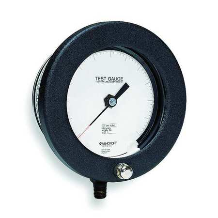 Pressure Gauge, 0 to 1000 psi, 6In, 1/4In