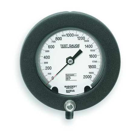 Pressure Gauge, 0 to 2000 psi, 6In, 1/4In