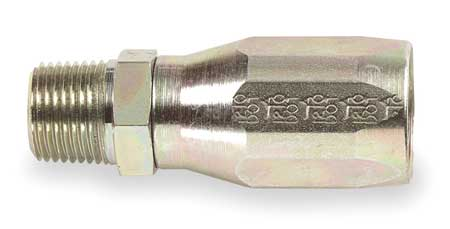 Hose Fitting, hyd, NPT, Straight, 3/8-18