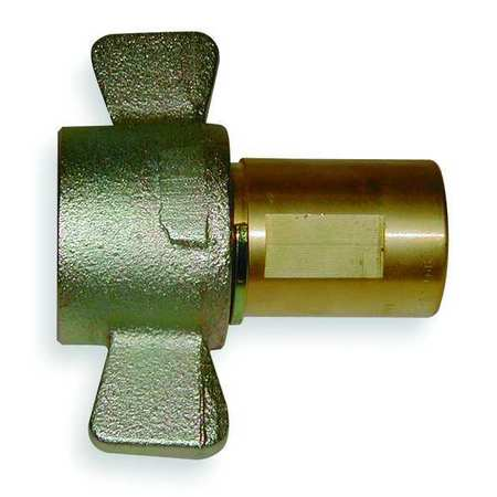 Coupler Body, 3/4-14, 3/4 In. Body, Brass