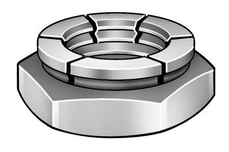 "5/8""-11 Cadmium Finish Carbon Steel Top Lock Nut,  50 pk."