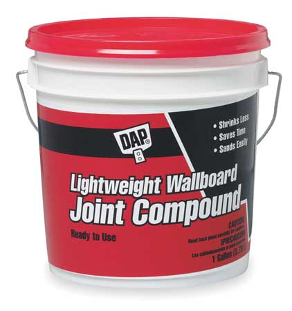 Wallboard Joint Compound, 1gal, Pail, White