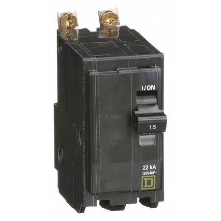 2P High Interrupt Capacity Circuit Breaker 15A 120/240VAC