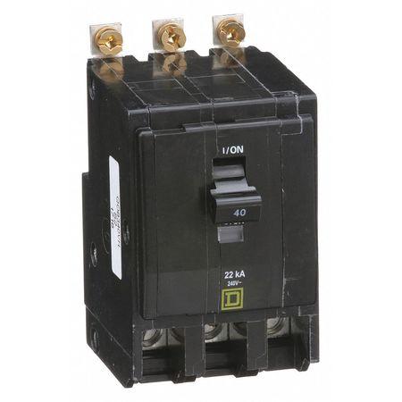 3P High Interrupt Capacity Circuit Breaker 40A 240VAC
