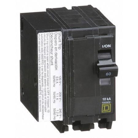 2P Shunt Trip Plug In Circuit Breaker 60A 120/240VAC
