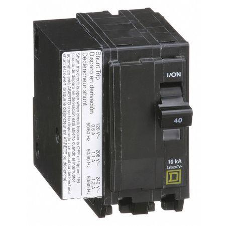 2P Shunt Trip Plug In Circuit Breaker 40A 120/240VAC